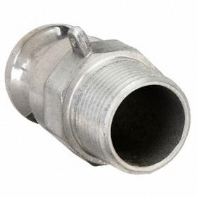 Cam-and-Groove Coupling Adapter: F, Aluminum, 1 in Adapter Size, 1 Pipe Size, NPT