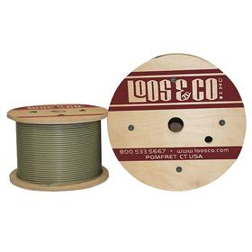 Wire Rope: 302/304 Stainless Steel, 7 x 7, Nylon, 1/16 in Rope Dia, 95 lb Max Load Capacity, 250 ft Overall Lg