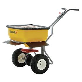Spreader: 160 lb Max Load Capacity, High Output, Broadcast, Fixed T, 20 ft Max Spreading Wd, 4 ft Min Spreading Wd, Rod