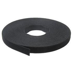 Hook and Loop Roll: Back-to-Back, Non-Adhesive, Black, 75 ft Lg, 1/2 in Wd, 23 psi Shear Strength