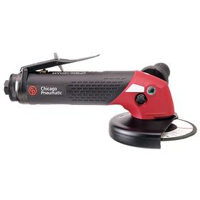Chicago Pneumatic Air-Powered Angle Grinder: For 4 1/2 in Max Wheel Dia, 2.3 hp Horsepower, 12000 RPM Max Motor Speed