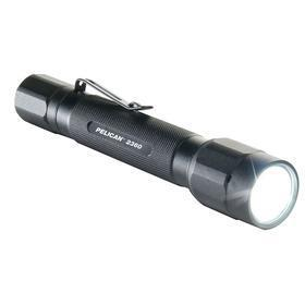 Waterproof Flashlight: Aluminum, 375 lm, High/Low, Spot, LED, 6 1/8 in Overall Lg, Black, IPX7 IP Rating, Batteries Incl