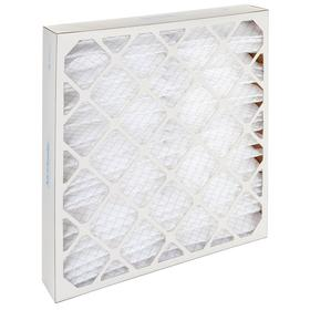 Pleated Air Filter: 7 MERV, Framed, 20 x 20 x 4 Nominal Filter Size, Synthetic/Polyester, 5 mil Filter Thickness, 6 PK