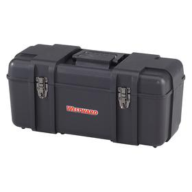 Tool Box: Plastic, 9 in Overall Ht, 10 5/16 in Overall Wd, 20 in Overall Lg, 9 in Inside Ht, 10 5/16 in Inside Wd, Black