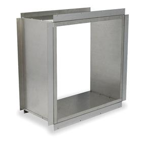 Wall Collar: 48 in For Fan Dia, 18 ga Thickness, Steel, 54 1/8 in Overall Ht, 54 1/4 in Overall Wd, 23 1/2 in Overall Dp