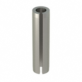 Slotted Spring Pin: 18-8 Stainless Steel, Passivated, 5/16 in OD, Fits 0.312 Min Hole Dia, 1 1/4 in Overall Lg, 25 PK
