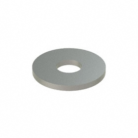 Oversized Flat Washer: 316 Stainless Steel, For M8 Screw Size, 8.4 mm ID, 24 mm OD, 2.000 mm Thickness, 50 PK