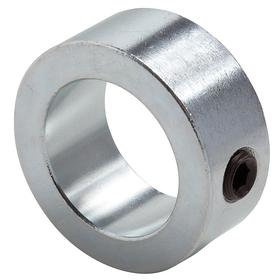 Climax Metal Set Screw Shaft Collar: Inch, Zinc, Steel, 3/8 in Bore Size, 3/4 in OD, 3/8 in Overall Wd, Round, 3 PK