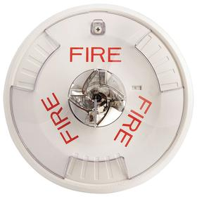 Eaton Indoor Strobe: Ceiling, 12 to 24V DC, 60 Flashes per Minute, 6 3/4 in Ht, 6 11/16 in Dia, White, 0.37 A, Indoors, Dome