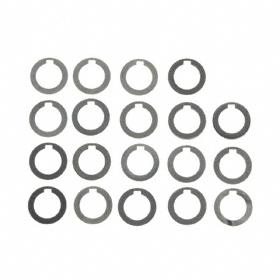 Round Shim Assortment: Steel, 19 Pieces