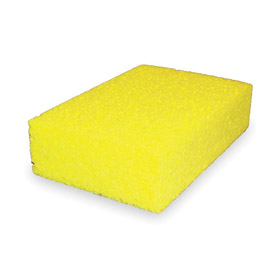 Sponge: Cellulose, 7 1/2 in Lg, 4 3/16 in Wd, 1 5/8 in Thickness, Yellow