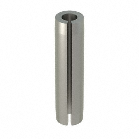 Slotted Spring Pin: 420 Stainless Steel, Passivated, 5/64 in OD, Fits 0.078 Min Hole Dia, 5/16 in Overall Lg, 100 PK