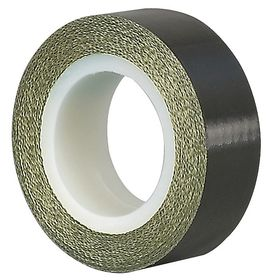 Antistatic Cloth Tape: 5 yd Overall Lg, PTFE, Glass Cloth, Silicone, 0.005 in Overall Thickness, 3 in Overall Wd, Black