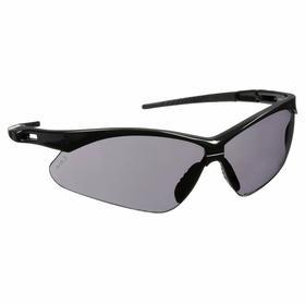 Pyramex Safety Glasses: Gray, Half Frame, Anti-Fog/Scratch Resistant, Black, ANSI Z87.1-2003, Nylon