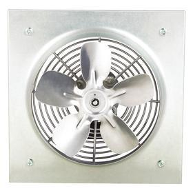 Direct-Drive Exhaust Fan: Variable Speed, Wall, 115V AC, Single Phase, Wire Leads, 8 in Fan Blade Dia, 12 in Overall Ht