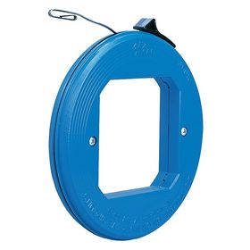 Fish Tape for Straight Runs: Steel, Flat, 50 ft Overall Lg, 1/8 in Tape Wd, 1/16 in Tape Thickness, Blue