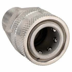 Parker Hannifin Quick-Disconnect Socket: Straight Through (ST), 1/4 in Coupling Size, Stainless Steel, Ball-Lock, NPTF