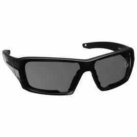 ESS Ballistic Safety Glasses: Clear/Copper Mirror/Gray, Wraparound Frame, Scratch Resistant, Black, Retention Strap