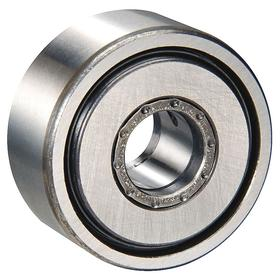 INA Yoke Roller: Metric, Steel, Double Sealed, Crowned, 10 mm Bore Dia, 30 mm Roller OD, 15 mm Roller Wd, Needle Roller, NATR