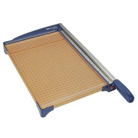 Acme Guillotine Paper Trimmer: 15 in Cutting Lg, 10 Sheet Capacity, Wood, 23 3/16 in Lg, 10 in Wd, Stainless Steel