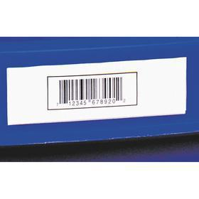 Adhesive-Backed Label Holder: Covered Message, Pocket Label Holder, Top or Bottom Feed, 2 in Overall Wd, 25 PK