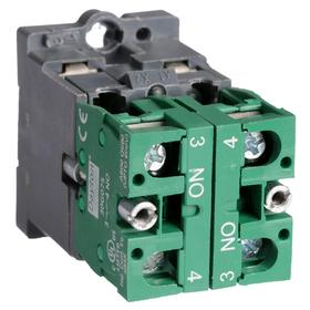 Lamp Module & Contact Block: For Plastic Operators, 1.57 in Overall Lg, Yellow, 2 Haz Material Indicator, LED, Includes Bulb