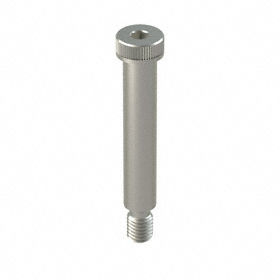"Stainless Steel Shoulder Screw: 316 Stainless Steel, Hex Socket, 5/8 in Shoulder Dia, 1/2""-13 Thread Size, 3 1/4 in Shoulder Lg"