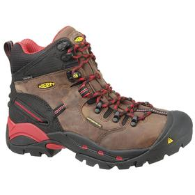 Waterproof Work Shoe: Gen Use, D Shoe Wd, 11 1/2 Men's Size, Men, Steel, Leather, Brown, Electrical Hazard Rated, 1 PR