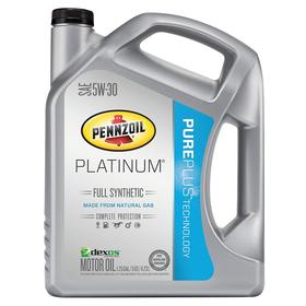 Pennzoil High Performance Gasoline Engine Oil: 5W-30 SAE Grade, 1.25 gal Container Size, Bottle, Synthetic