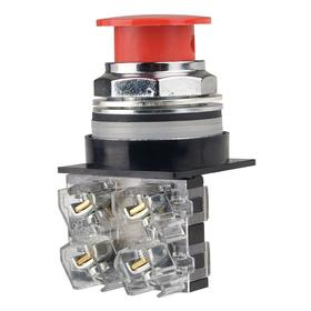 GE Non-Illuminated Push Button: 10 A @ 600V AC Contact Rating, Mushroom Operator, 1NO Pole-Throw Configuration, Red