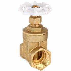 Gate Valve: Brass, Non-Rising, Threaded Bonnet, Class 200 Class, NPT, 1 1/2 Inlet Pipe Size, 135 Coefficient of Volume