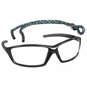 Bolle Safety Glasses: Clear, Full Frame, Anti-Fog/Scratch Resistant, Black, ANSI Z87.1-2010/CSA Z94.3-2007, Nylon