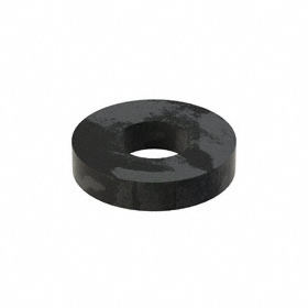 Flat Washer: Steel, Black Oxide, Case Hardened Material Grade, For 1/4 in Screw Size, 0.282 in ID, 0.625 in OD, 25 PK