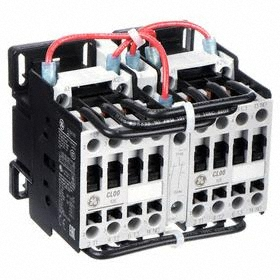 GE IEC Magnetic Contactor: 3 Poles, Single/Three Phase, 10 A Current Rating, 240V AC Control Volt, Reversing