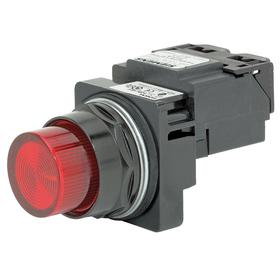 Siemens Pilot Light Complete Unit: 120V AC, Transformer, Red, For LED, Epoxy Coated, 30 mm Compatible Panel Cutout Dia