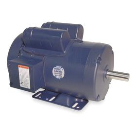 Regal AC Motor: Single Phase, 3 hp Output Power, 2850 Nameplate RPM, 145T NEMA Frame Size, 220V AC, TEFC, CCW, Ball