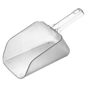 Rubbermaid Standard Food Scoop: Std Scoop, Flat, 64 oz Bowl Capacity, 14 in Overall Lg, 6 in Overall Wd, Plastic, Clear
