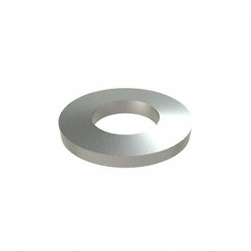Flat Disc Spring: 18-8 Stainless Steel, For M5 Screw Size, 5.3 mm Min ID, 11 mm Max OD, 1.2 mm Thickness, 25 PK