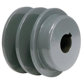V-Belt Pulley: 4L/5L/A/AX/B Belt Section Size, For A-Section (4L, A & AX) & B-Section (5L, B & BX), 3/4 in Bore Dia, Solid, Keyway