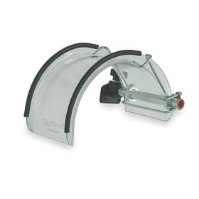 Lathe Spindle Guard: Clear, Polycarbonate, 12 in Overall Lg, 6 in Overall Wd, 6 in Thickness/Ht, 590° F Max Op Temp