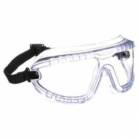 3M Chemical Splash-Protection Safety Goggle: Clear Lens, Anti-Fog/Scratch Resistant, Indirect, Polycarbonate Lens, Strap