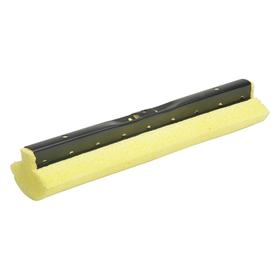 Sponge Mop Refill: Roller, Cellulose, 3 1/4 in Sponge Wd, 12 in Sponge Lg, Yellow, Snap-On, Powder-Coated, 1 Ply Count