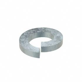 Split Lock Washer: Steel, Zinc Plated, For 5/8 in Screw Size, 0.628 in ID, 1.073 in OD, 0.156 in Thickness, 10 PK