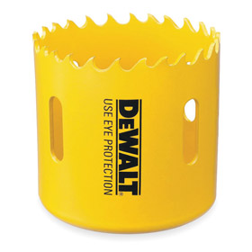 DeWalt Hole Saw: Hole Saw Only, Bi-Metal (High Speed Steel), Ejection Slot, 4 in Saw Dia, 1 13/16 in Cutting Dp, Gen Purpose