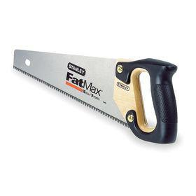 Stanley Handsaw for Multiple Materials: D-Grip, 15 in Blade Lg, 8 Teeth Per Inch, 18 in Overall Lg, Soft-Grip Wood