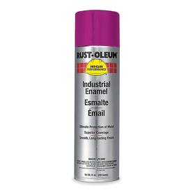 Rust-Oleum Spray Paint: Safety Purple, Gloss, 2 hr Dry Time, 12 to 20 sq ft, 15 fl oz Container Size