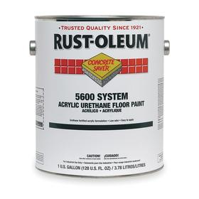 Rust-Oleum Floor Paint: Silver Gray, Gloss, 72 hr Dry Time, 170 to 270 sq ft/gal, 1 gal Container Size