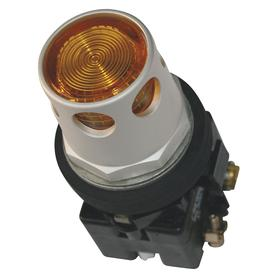 Eaton Illuminated Push Button: 12 A @ 600V AC Contact Rating, Extended Operator, 1NC Pole-Throw Configuration, Yellow, Silver