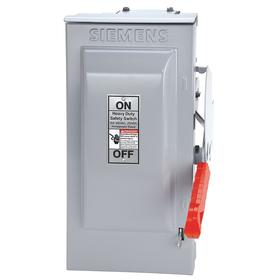 Siemens Heavy Duty Safety Disconnect Switch: Three Phase, 3 Poles, 30 A @ 600V AC Switch Rating, Outdoor, 20 IP Rating