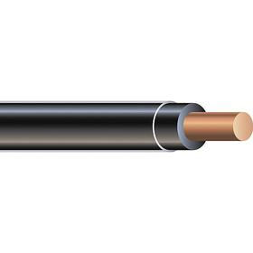 THHN Building Wire: Black, Solid, 600V AC, PVC, Nylon, 194° F Max Op Temp, 10 AWG Conductor Size, 0.161 in Cable OD, 30 A Current, 50 ft Cable Lg